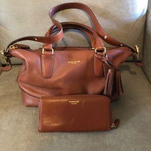 Coach bag & wallet-NICE! 21132 soft & clean